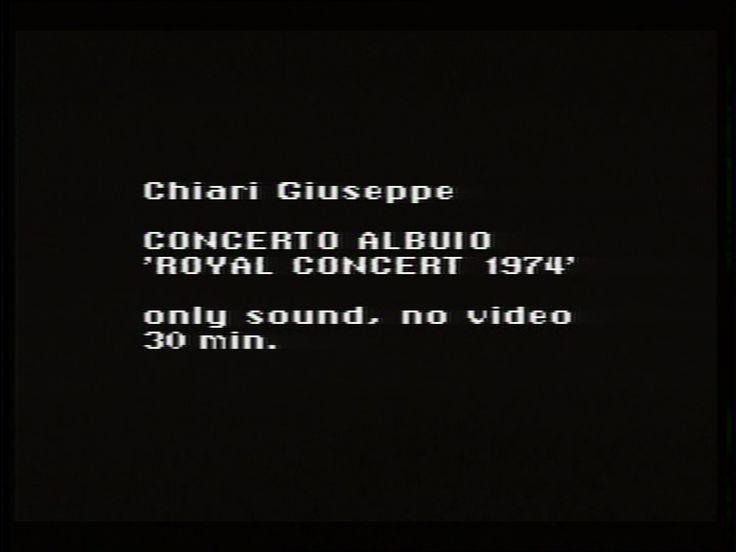 Concerto al buio 'Royal College Concert 1974'