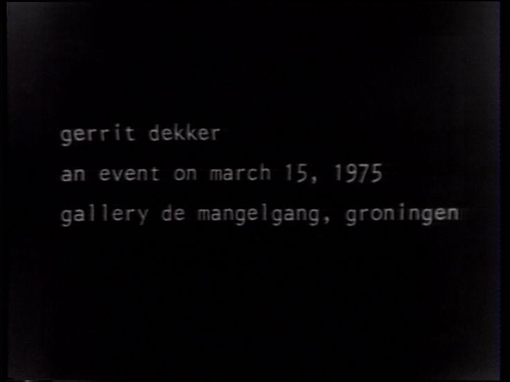 An Event in Gallery 'De Mangelgang' Groningen versie 1