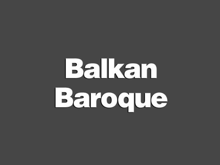 Balkan Baroque (Mother, right)